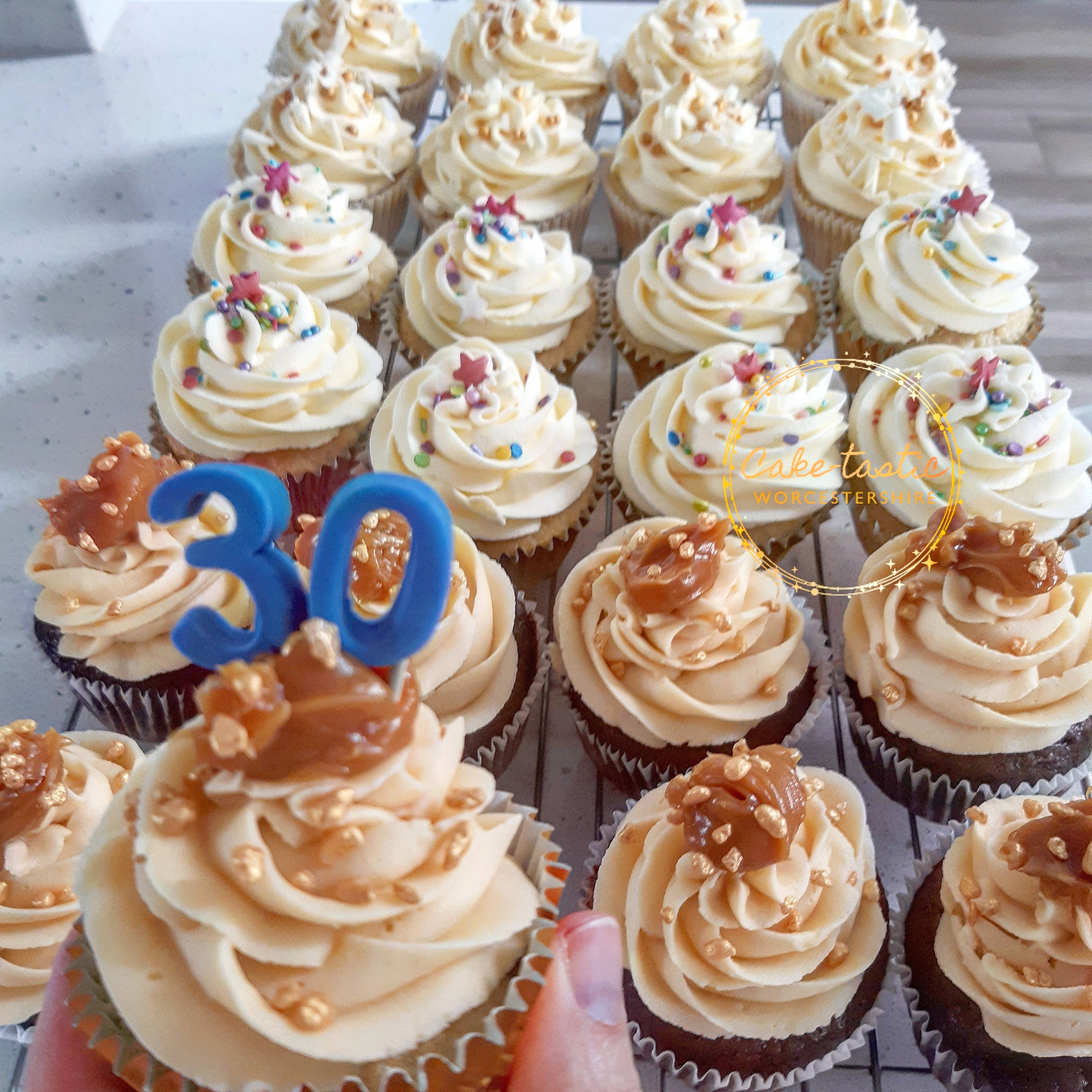 30th Work Anniversay Cupcakes